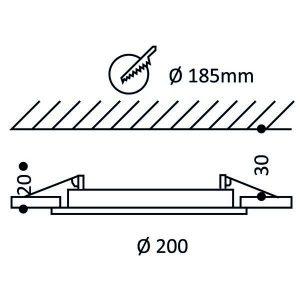 led-paneelivalaisin-plafondi-200-15w-ip44-ei-himmennettava-4000k-8ef
